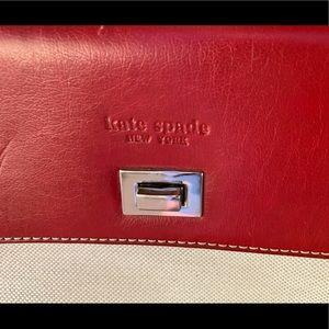 Kate Spade Red and Cream Handbag 👜